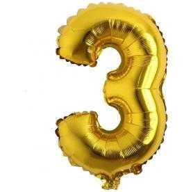 3 rakam balon altın
